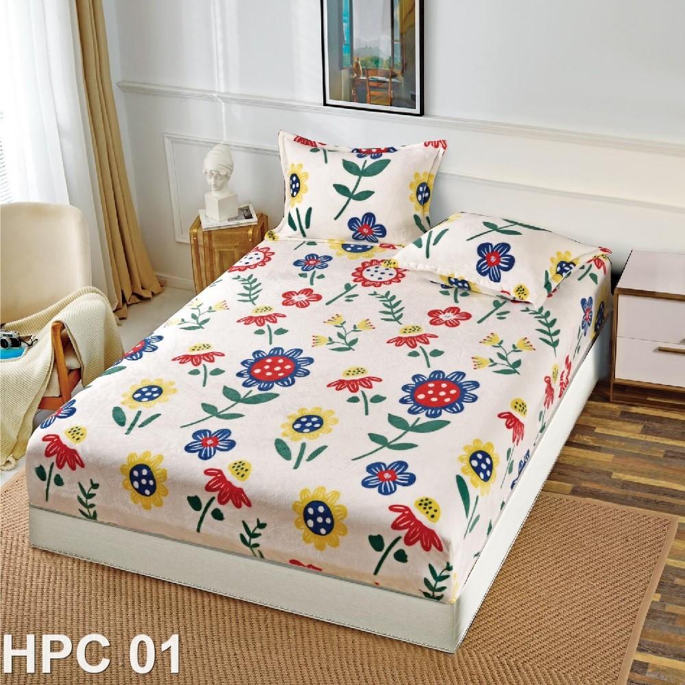Husa de pat cocolino cu doua fete de perna (cod HPC01)