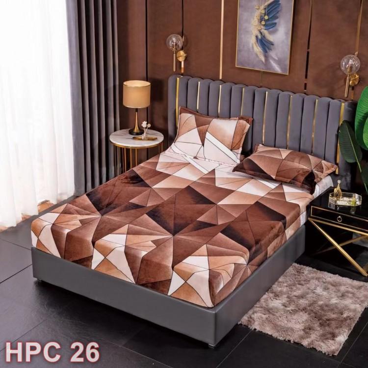 Husa de pat cocolino cu doua fete de perna (cod HPC26)