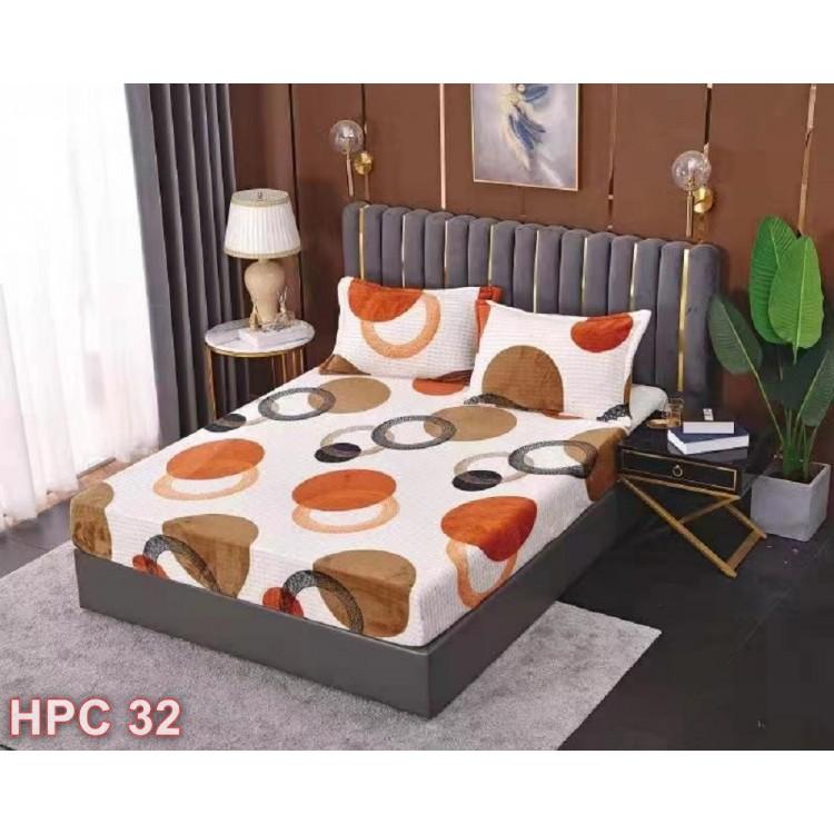 Husa de pat cocolino cu doua fete de perna (cod HPC32)