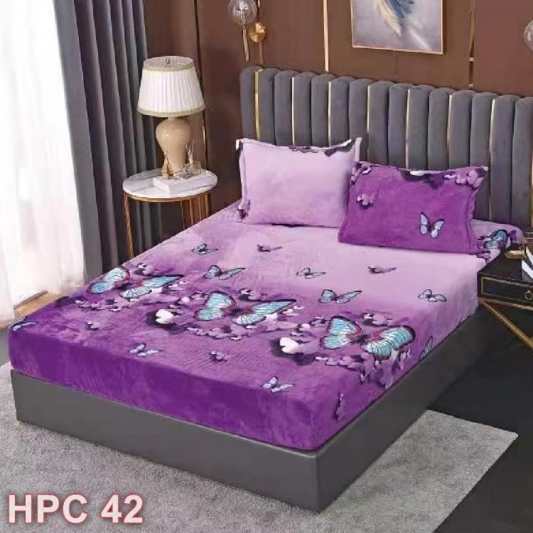 Husa de pat cocolino cu doua fete de perna (cod HPC42)