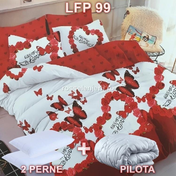 Pachet promoțional Lenjerie finet, perne și pilotă (cod LFP99)